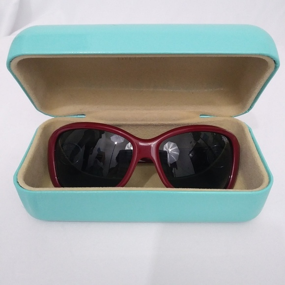 57137c077ca NWOT Authentic Tiffany   Co. Deep Red Sunglasses.  M 5aa5f6e63a112eaa6baa4055. Other Accessories ...
